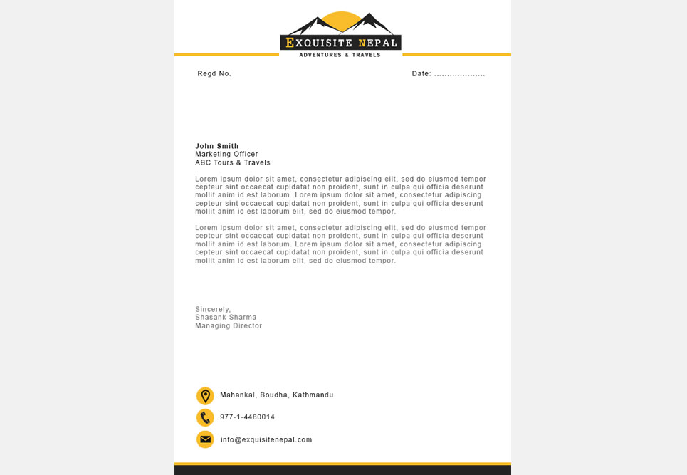 Projects at digital services exquisite nepal sample letterhead design spiritdancerdesigns Images