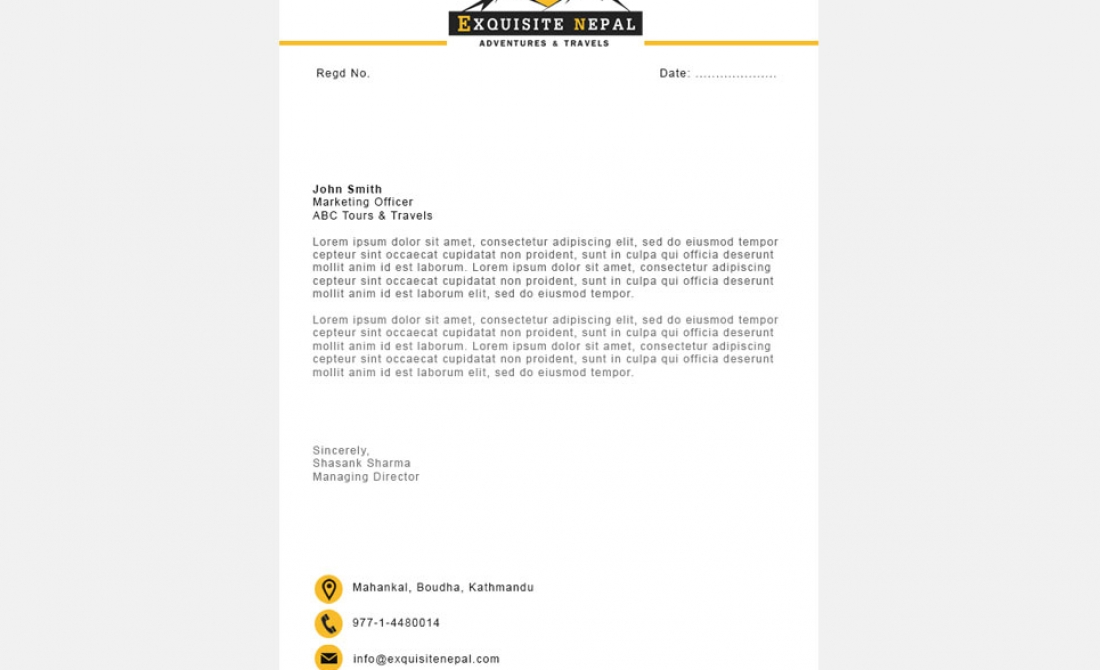 Exquisite nepal sample letterhead design at digital services exquisite nepal sample letterhead design spiritdancerdesigns Image collections